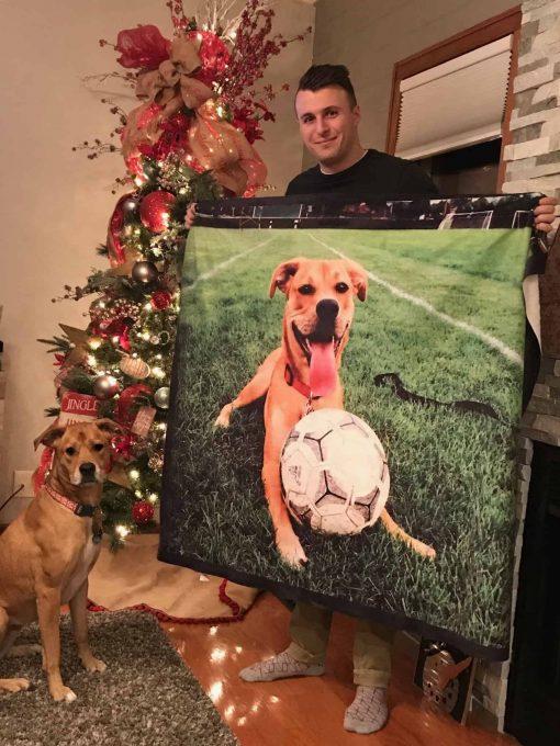 Custom Printed KC Dog Club Sherpa Blanket