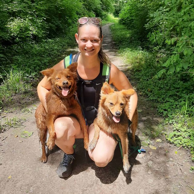Laci Chard Hiking with KC Dog Club at Minor Park
